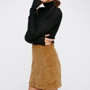 free people cord mini skirt